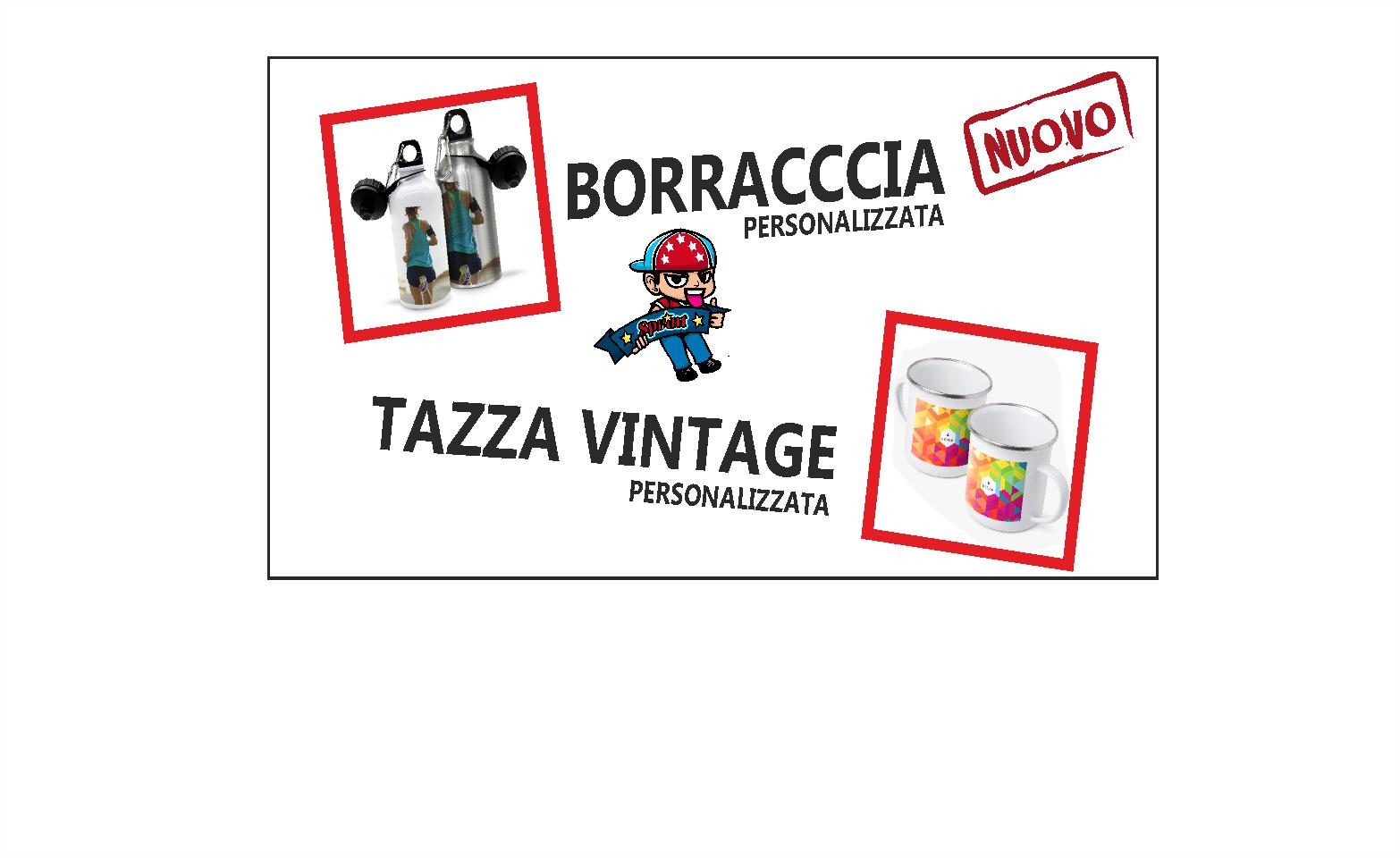 Borraccia e Tazza Vintage